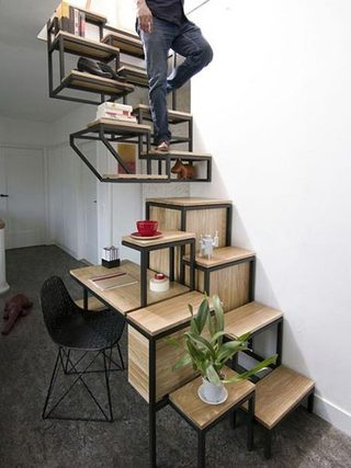 到底能装多少呢  10个楼梯间收纳设计图片3/10