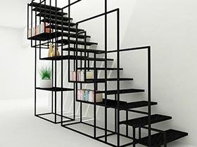 到底能装多少呢  10个楼梯间收纳设计图片