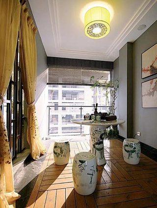 中式阳台设计构造图