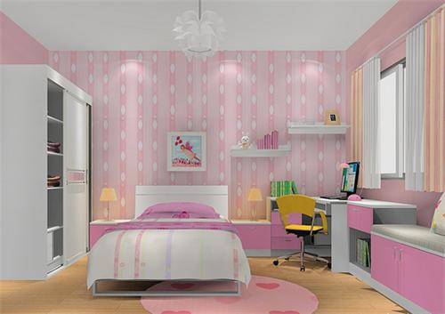 女孩房装修效果图 00后女生公主房设计案例