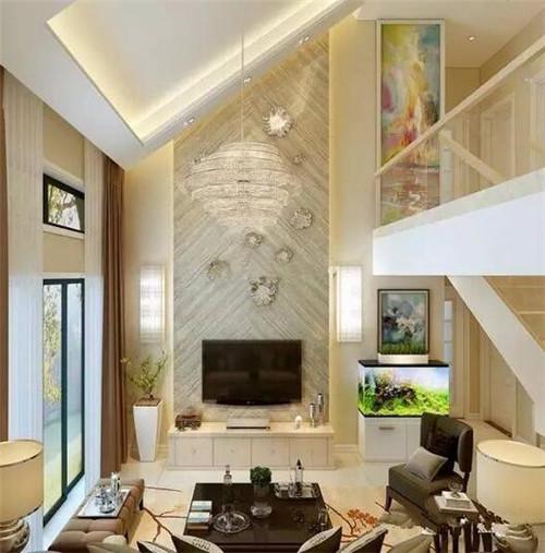 楼中楼客厅装修效果图 2017新款楼中楼客厅欣赏
