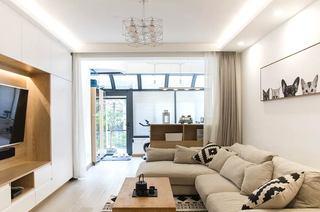 110平日式三居室客厅效果图