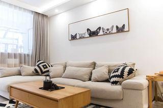 110平日式三居室转角沙发图片