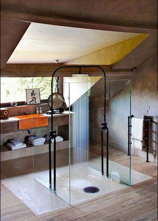 创意阁楼浴室设计图片