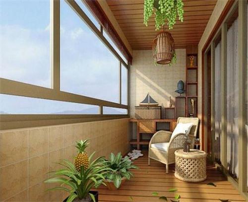 商品房阳台装修效果图 打造一款温馨舒适的休闲阳台图片