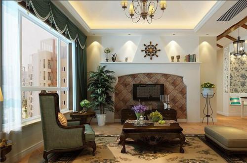 8萬元打造悠閑的美式鄉村風格兩居室【寶雞裝飾公司排行榜】