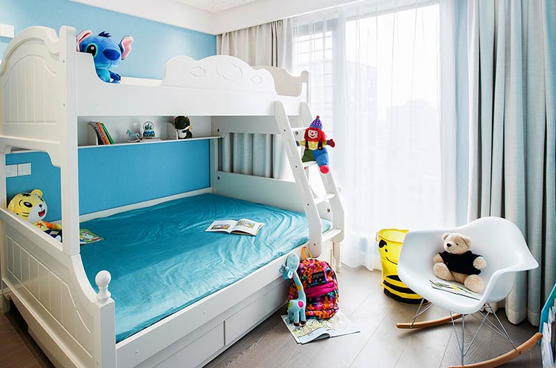 现代风格样板房装修儿童房设计