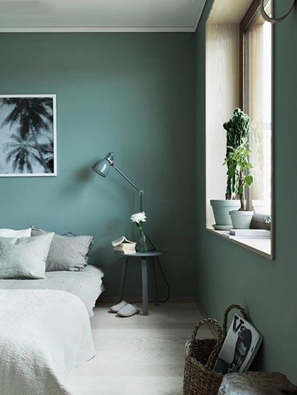 绿色系卧室飘窗图片大全