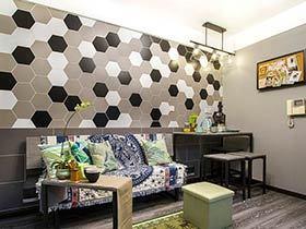 40平小户型loft装修效果图 复古融合时尚