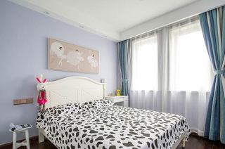 104平中式三居室儿童房设计图