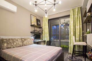 40平小户型loft装修卧室窗帘图片