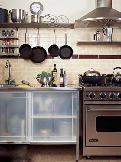 开放式厨房收纳装修图片大全