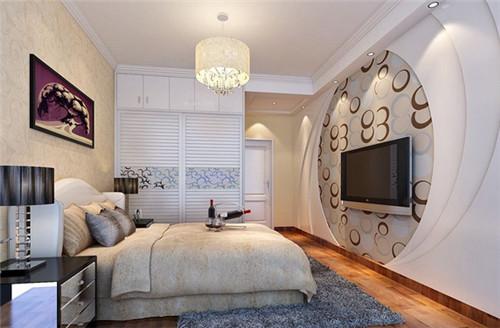 主卧欧式电视背景墙设计图图片