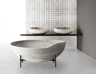 复古浴室装修装饰图片