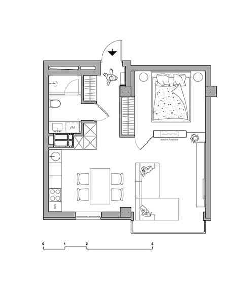 50㎡单身公寓装修平面图