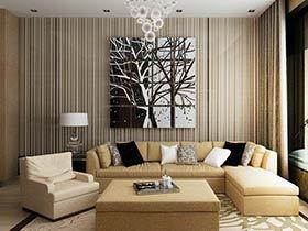 75平简约风格两室两厅装修 清雅水云间