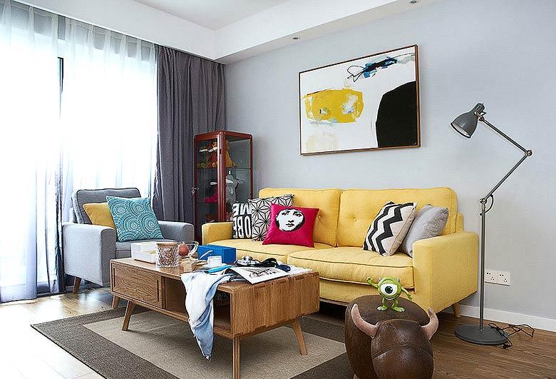 北欧风格三室一厅装修客厅效果图