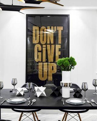 220平美式风格四居餐厅挂画效果图