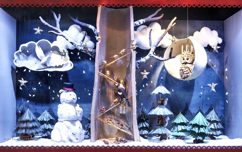 圣诞主题橱窗装修设计图