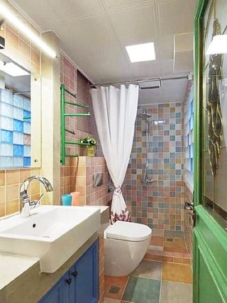 卫生间洗手台平面图