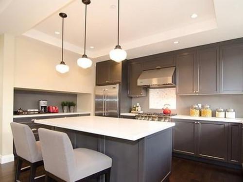 橱柜吧台效果图 让厨房变得更时尚图片