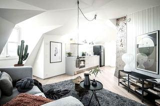 35平单身公寓装修客厅设计图