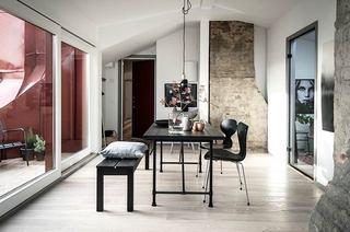 35平单身公寓装修餐厅效果图