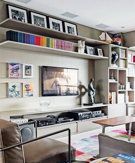 电视背景墙收纳图片大全