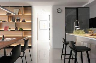 简约风格三居室厨房吧台图片