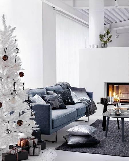 客厅圣诞主题布置效果图
