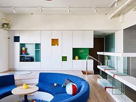 混搭风格两居室装修图片 孩子的游戏城堡