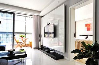 90平北欧风格小公寓客厅阳台隔断图