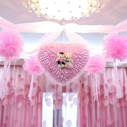 婚房布置效果图拉花怎样好看 婚房拉花布置技巧图片