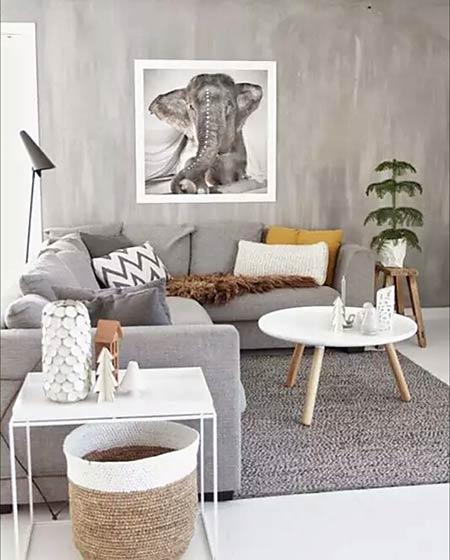 北欧风格装修客厅茶几图片