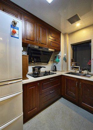 90㎡美式四居室厨房图片