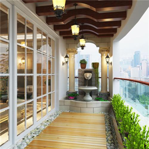 阳台地砖效果图 打造阳台中超美的脚下风景图片