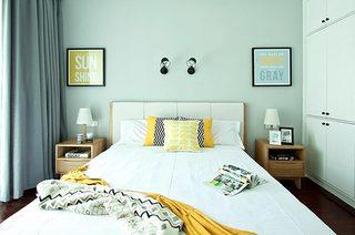 130平北欧风格三居卧室效果图