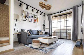 115平米北欧风格二居客厅效果图
