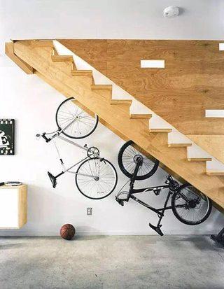 自行车背景墙装修装饰效果图