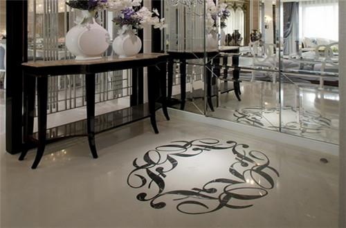瓷砖拼花效果图 时尚客厅中的扮靓神器