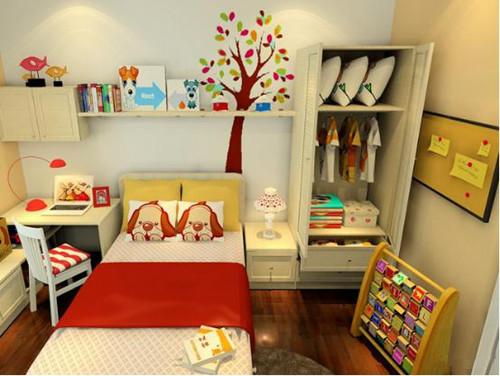 儿童书房设计效果图 儿童房书房一体装修两不误图片