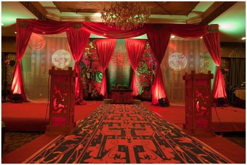中式婚礼场景布置效果图 中式婚礼仪式流程解析