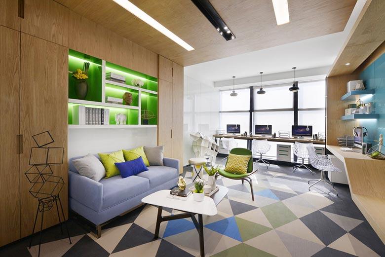 32㎡单身公寓设计客厅图片