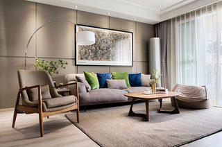 100平北欧风格二居客厅效果图