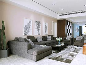 209平简约风格三居室装修 写给空间的诗