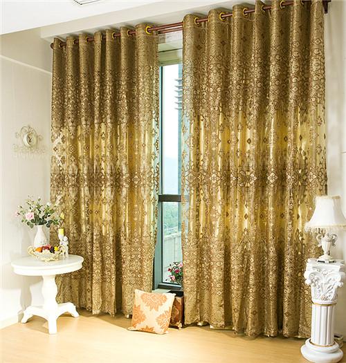 金色窗帘效果图 金色窗帘引领奢华的品质生活