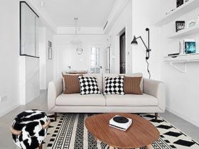 100平北欧风格三室两厅装修 心灵静处