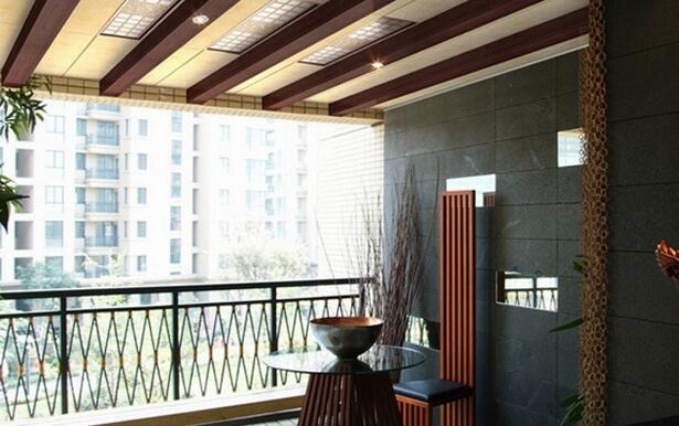 阳台吊顶装修效果图 创意设计打造完美阳台图片