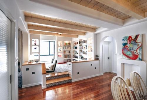 榻榻米客厅装修效果图大全 客厅榻榻米代替沙发设计案例