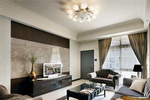 电视背景墙瓷砖效果图 时尚个性的客厅电视墙设计
